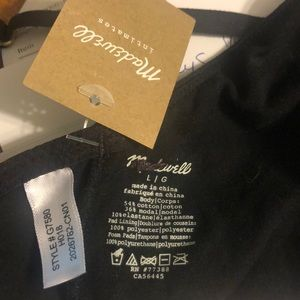 Madewell Intimates & Sleepwear - Madewell Cotton Modal Mika Bralette Sz L NWT